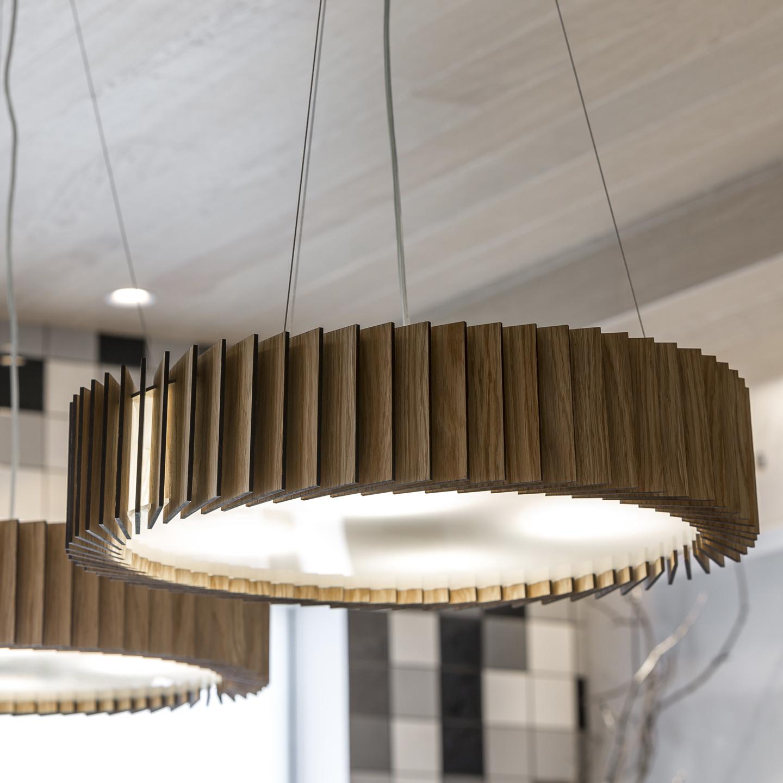 Подвесной светильник Woodled Ротор, средний