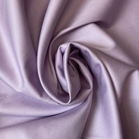 Ткань хлопок сатин с эластаном лавандовый 2098