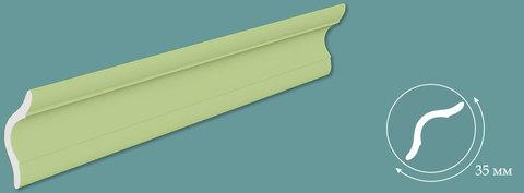Потолочный плинтус Зеленый 1м