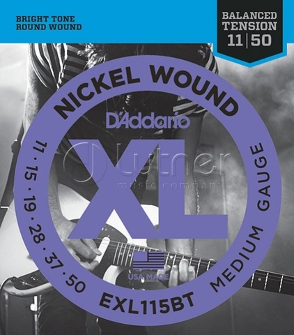 D'Addario EXL115BT Nickel Wound Комплект струн для электрогитары