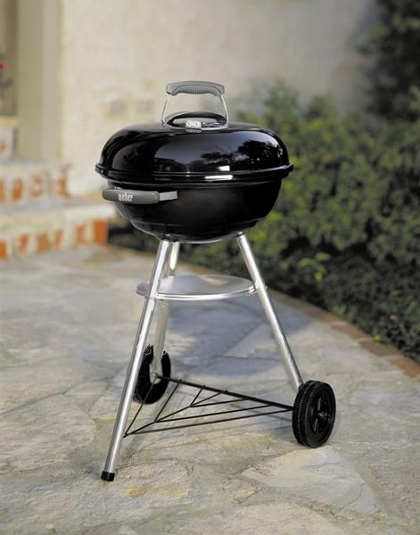 Гриль-барбекю угольный Weber Compact Kettle 57 см, черный.