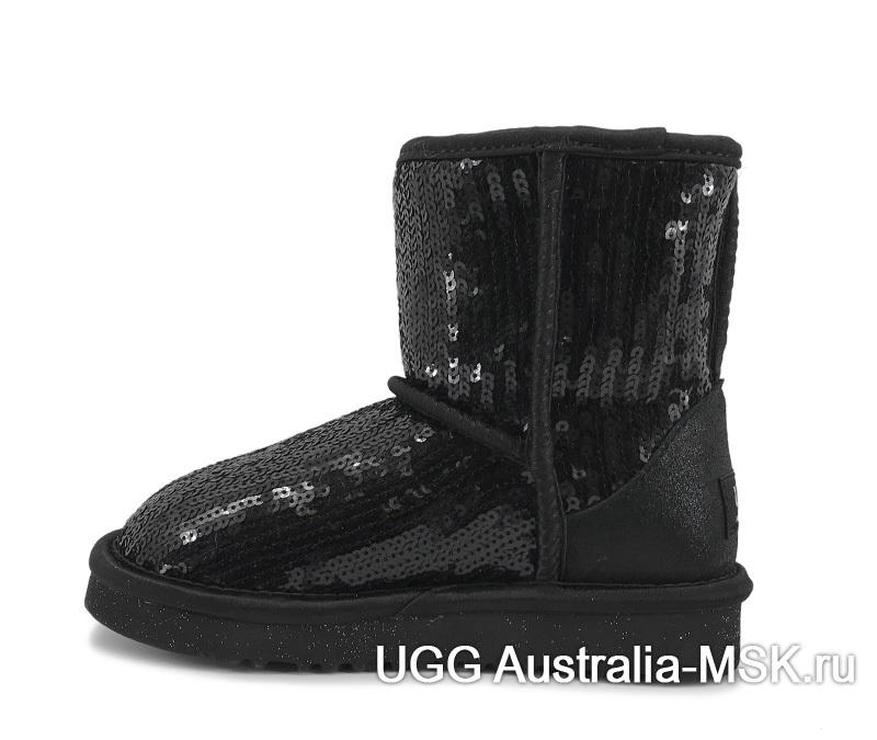 UGG Kids Classic Short Sparkles Black