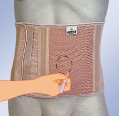 Бандаж с индивидуально вырезаемым отверстием для стомы
