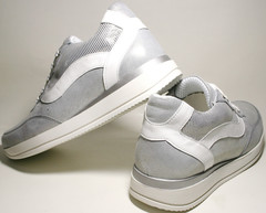 Серебристые кроссовки Avangard - спортивные туфли
