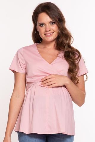 Блузка для беременных и кормящих 10365 пудра