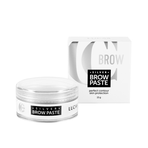 Паста для бровей серебряная Silver Brow Paste CC Brow 15гр