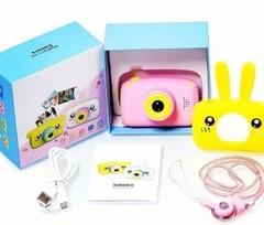 детский цифровой фотоаппарат зайчик желтый