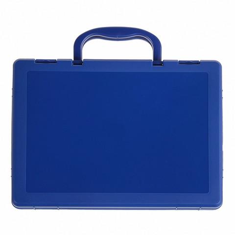 Папка-портфель Стамм пластиковая А4 синяя (270x360 мм, 1 отделение)