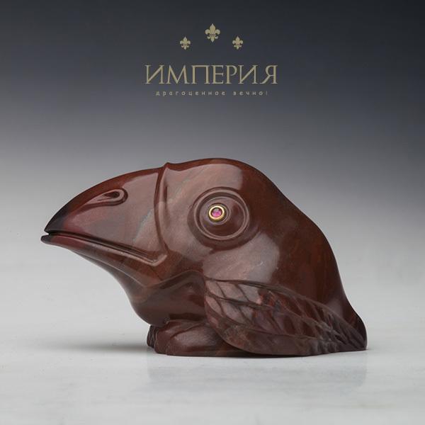 Резьба, статуэтки Галчонок из красной яшмы Galchonok_inst.jpg