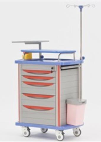 Столик анестезиолога и деж.медсестры металлопластиковый G-70 - фото