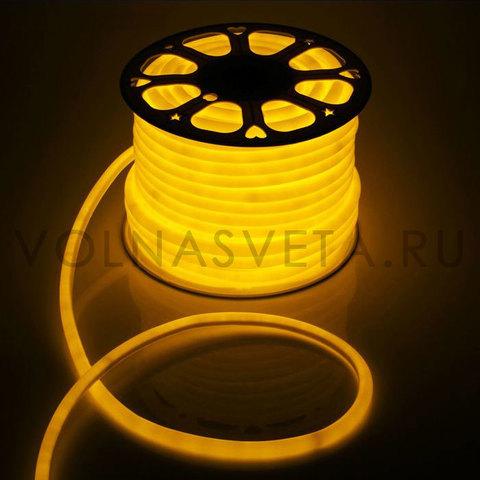 Гибкий неон D16 - круглый, светодиодный | Желтый - 50м