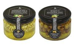 Набор (2 шт.) орехов в акациевом меду: кедровый и фундук, 500 г