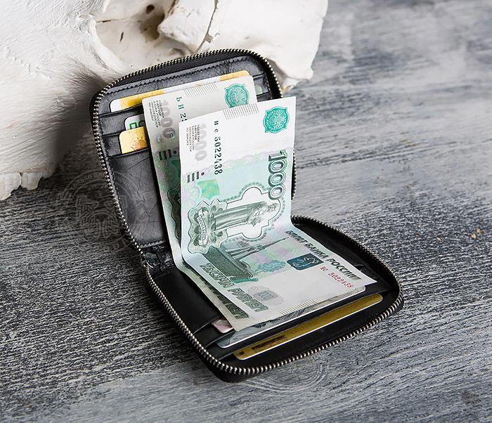 WL289-1 Оригинальный кошелек на молнии для карт, купюр и монет фото 07