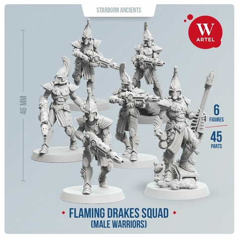 Flaming Drakes Squad (male warriors)