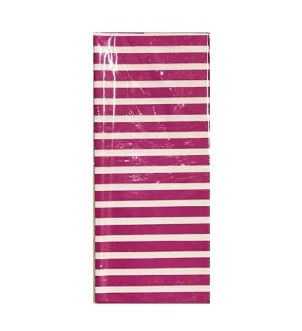 Бумага тишью Полоска, 10 шт., 50x66 см, цвет: фуксия