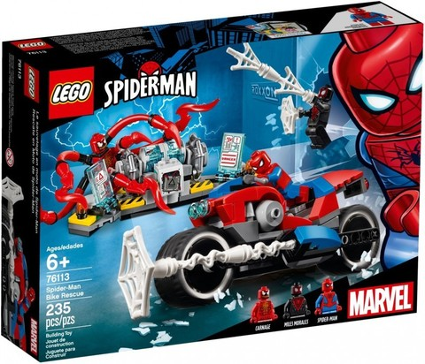 LEGO Super Heroes: Человек-паук: Спасение на байке 76113 — Spider-Man Bike Rescue — Лего Супергерои Марвел