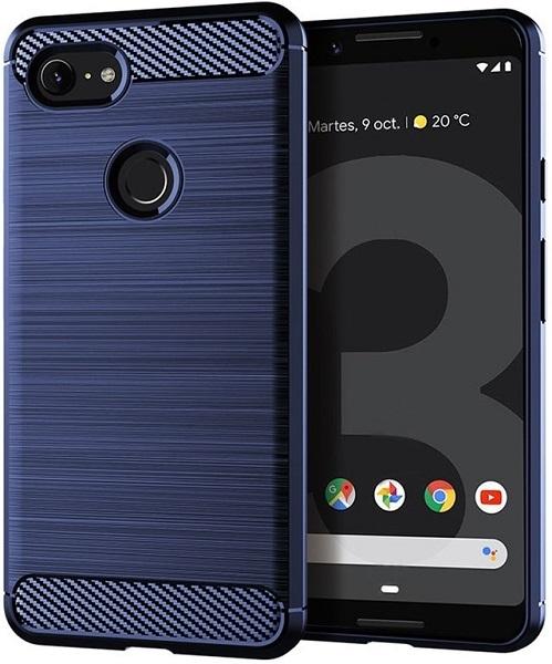 Чехол Google Pixel 3 цвет Blue (синий), серия Carbon, Caseport