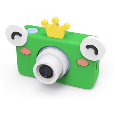 Фотоаппарат детский SmileZoom 24 Мп  с чехлом с ушками / Лягушонок