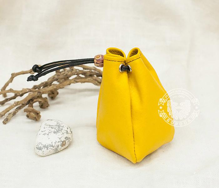 Boroda Design, Желтый кисет ручной работы из натуральной кожи