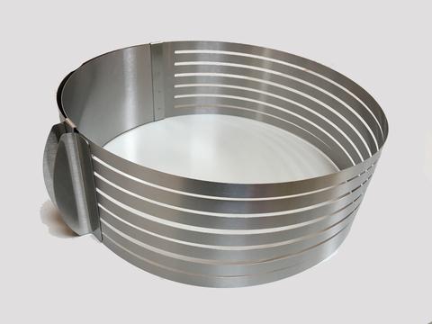 Кольцо для нарезания коржей раздвижное D24-30 H8 см