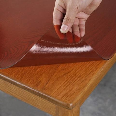 Накладка на стол коричневая  ширина 50 см.