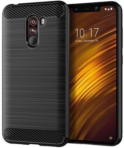 Чехол Xiaomi Pocophone F1 цвет Black (черный), серия Carbon, Caseport
