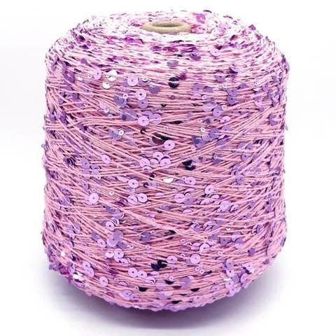 Пряжа Shine Paillettes 021 розовый