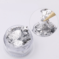 Слюда для ногтей (серебро)