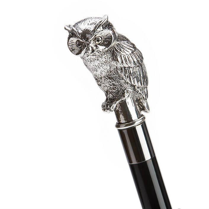 Зонт-трость Pasotti 478 6434/19 W44 - Silver Owl