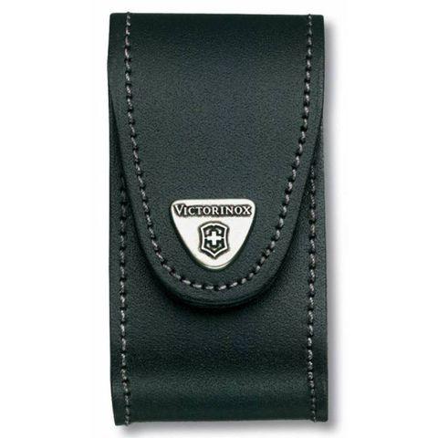 Чехол Victorinox (4.0521.31) для 91мм толщина 5-8 ур кожа поворот черный
