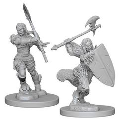 Pathfinder Deep Cuts Unpainted Miniatures - Half Orc Female Barbarian