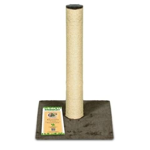 Homecat когтеточка-столбик для кошек ковролин джут коричневый 29,5*29,5*50