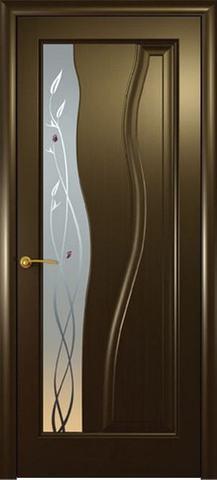 Дверь Гольфстрим new (венге, остекленная шпонированная), фабрика Океан