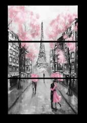 """Модульная картина """"Вид на Париж и Эйфелеву Башню"""""""