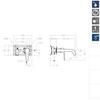 Встраиваемый смеситель для раковины YPSILON PLUS 642102 - фото №2