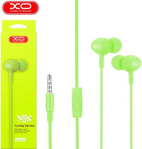 Гарнитура вакуумная XO S6 Candy music (green)