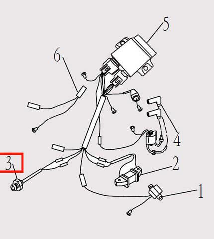 Лампа сигнальная для лодочного мотора F9.8 Sea-PRO (14-3)