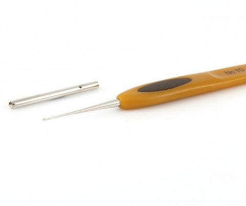 Крючок для вязания Clover Soft Touch. 0.75 мм