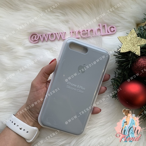 Чехол iPhone 7+/8+ Silicone Case /mist blue/ голубой дым 1:1
