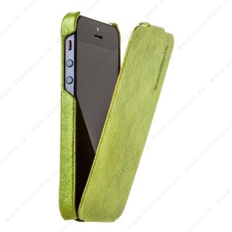 Чехол-флип Borofone для iPhone SE/ 5s/ 5C/ 5 - Borofone General flip Leather Case Green