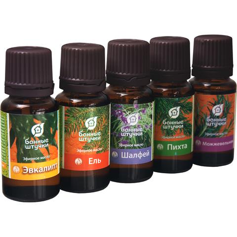 Набор эфирных масел «Легкое дыхание» (пихта, можжевельник, ель, шалфей, эвкалипт)