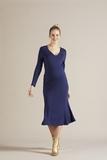 Платье для беременных 09802 синий