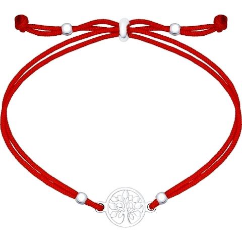 94050366- Красная нить с подвеской из серебра