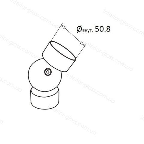 Соединитель поручня D=50,8 мм ST-448 шарнирный