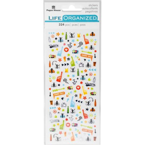 Стикеры микро  Paper House Life Organized Micro Stickers Sports Fan