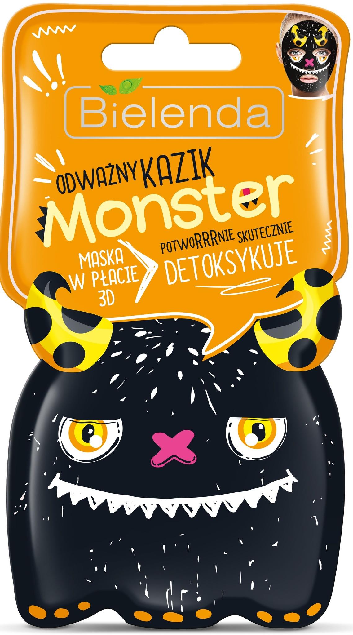 MONSTER маска тканевая 3D Храбрый Казимир детокс 1шт