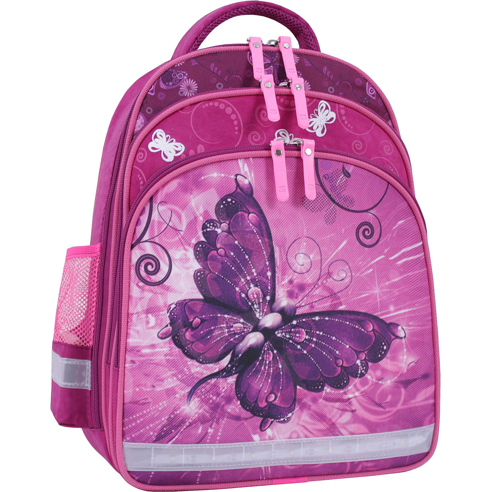 Детские рюкзаки Рюкзак школьный Bagland Mouse 143 малиновый 615 (0051370) IMG_0029_суб.615_.JPG