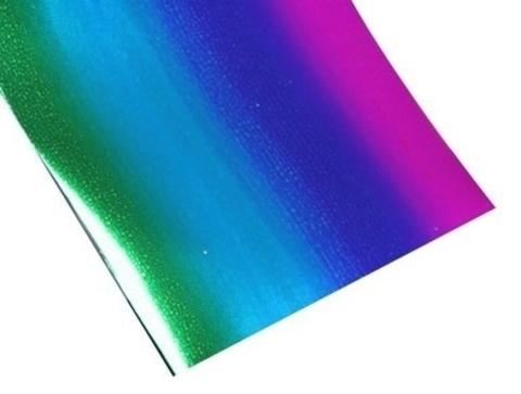 Фольга для дизайна Радужная синяя