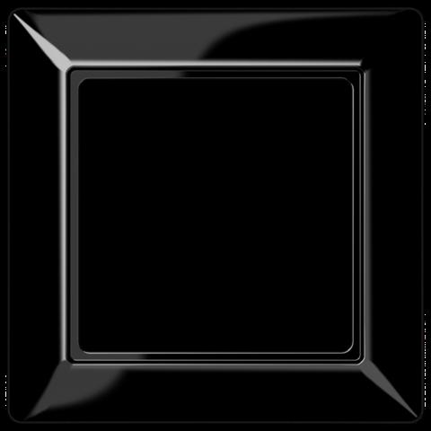 Рамка на 1 пост. Цвет Чёрный. JUNG AS. AS581SW