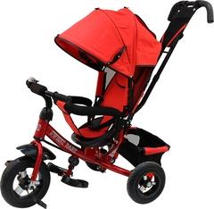 Детский трёхколёсный велосипед с ручкой ( красный ) Sweet baby - колёса надувные